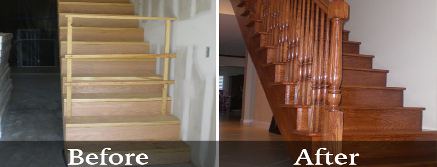 Carpentry before & after work