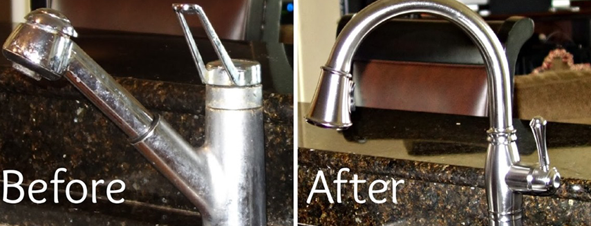 Plumbing before & after work