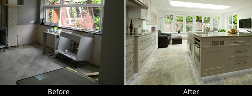 refurbishment before & after in London