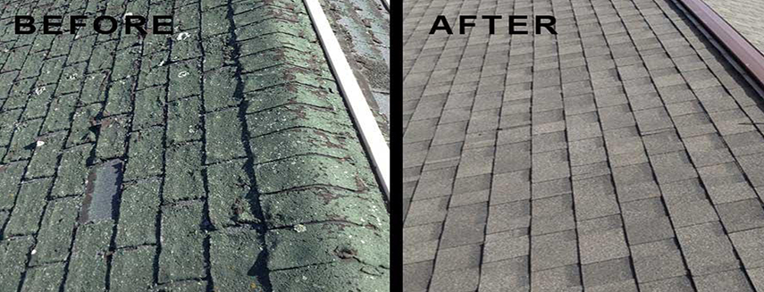 Roofing before & after