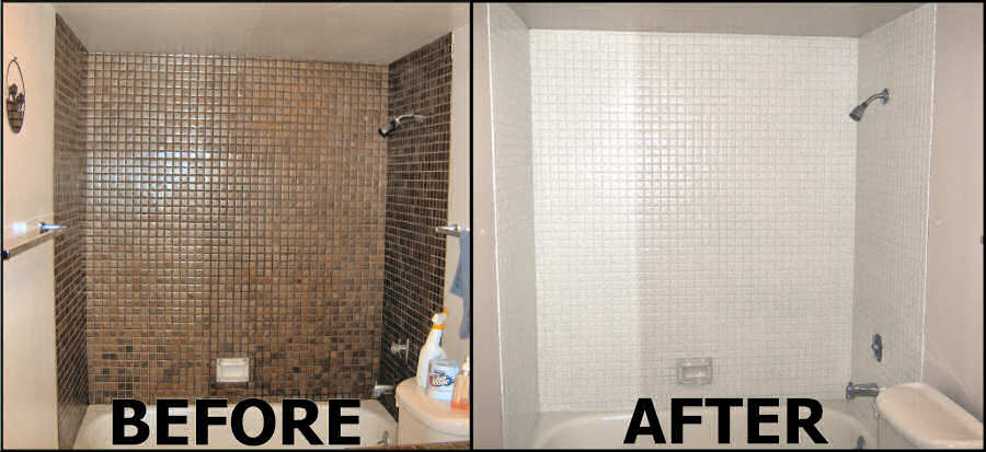 Tiling before & after work
